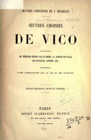 Cover of: Oeuvres choisies de Vico