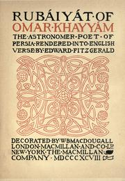 Cover of: Rubaiyat.