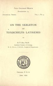 Cover of: On the skeleton of Toxochelys latiremis