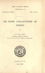 Cover of: On some collections of fishes made in the Kankakee and Illinois Rivers