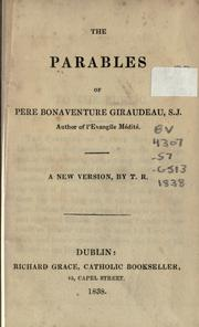 Cover of: The parables of Père Bonaventure Giraudeau, S.J. by Bonaventure Giraudeau