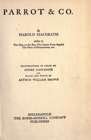Cover of: Parrot & Co. | Harold MacGrath