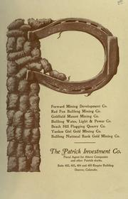 Cover of: The Patrick Investment Co. | Patrick Investment Company.