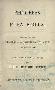 Cover of: Pedigrees from the plea rolls by George Wrottesley