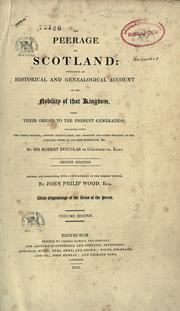 Cover of: The peerage of Scotland by Douglas, Robert Sir