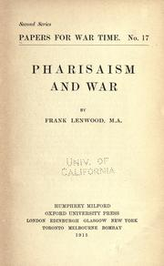 Pharisaism and war