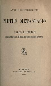 Cover of: Pietro Metastasio