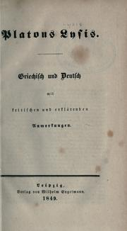Cover of: Platons Werke by Plato