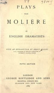 Cover of: Plays from Molière