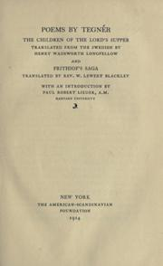 Cover of: Poems by Tegnér