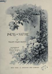 Cover of: Poems of nature: Illustrated by Paul de Longpré.