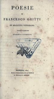Poesie di Francesco Gritti in dialetto veneziano.