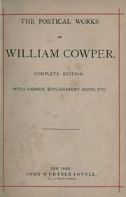Cover of: Poetical works, with memoir, explanatory notes, etc