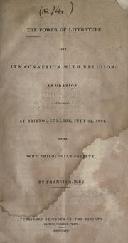 Cover of: The power of literature and its connexion with religion