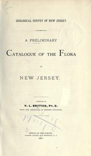 Cover of: A preliminary catalogue of the flora of New Jersey