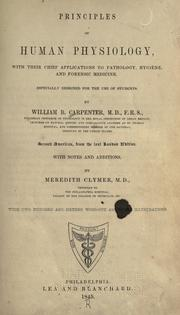 Cover of: Principles of human physiology | William Benjamin Carpenter