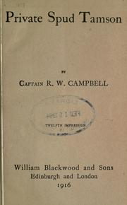 Cover of: Private Spud Tamson | R. W. Campbell