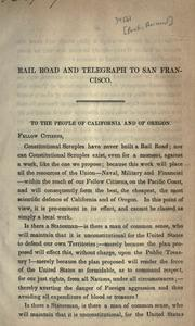Cover of: Proceedings of the friends of a rail-road to San Francisco by