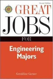 Cover of: Great jobs for engineering majors | Geraldine O. Garner