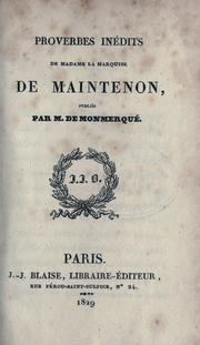 Cover of: Proverbes inédits