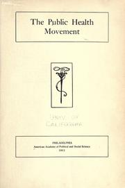 Cover of: The public health movement..