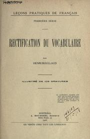 Rectification du vocabulaire by Henri Roullaud