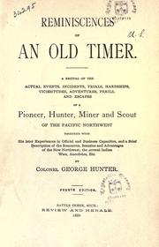 Reminiscences of an old timer by Hunter, George
