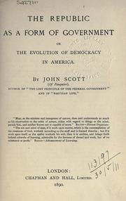 Cover of: The Republic as a form of government | Scott, John