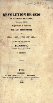 Cover of: Révolution de 1830