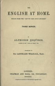 Cover of: The English at home