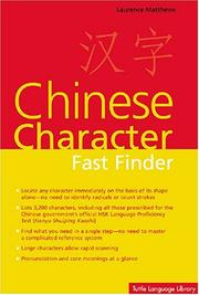 Cover of: Chinese Character Fast Finder