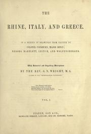 Cover of: The Rhine, Italy, and Greece