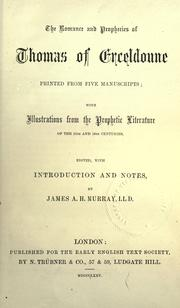 Cover of: The romance and prophecies of Thomas of Erceldoune