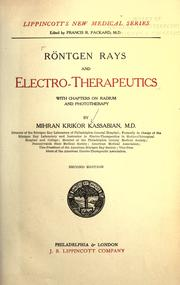 Cover of: Rontgen rays and electro-therapeutics | Mihran Krikor Kassabian