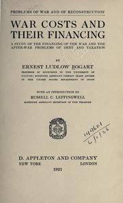 War costs and their financing by Bogart, Ernest Ludlow