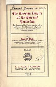 Cover of: The Russian Empire of to-day and yesterday by Nervin O. Winter