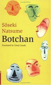 "Cover of: Botchan (Tuttle Classics of Japanese Literature) | Natsume SoМ""seki"