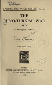 Cover of: The Russo-Turkish war, 1877