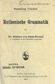 Cover of: Ruthenische Grammatik