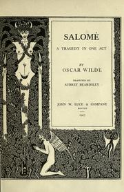 Cover of: Salomé by Oscar Wilde