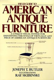 Cover of: Field guide to American antique furniture | Joseph T. Butler