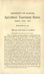 Cover of: The San José scale in Illinois
