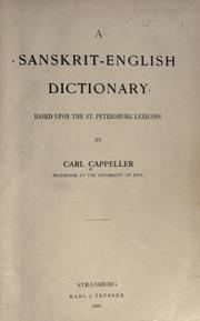 Cover of: Sanskrit-English dictionary =