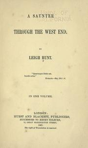 Cover of: A saunter through the West End: In one volume.