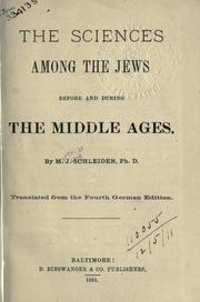 Cover of: The sciences among the Jews