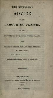 Cover of: The Scotsman's advice to the labouring classes