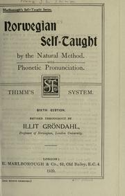 Cover of: Norwegian self-taught by the natural method