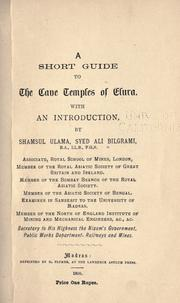 Cover of: short guide to the cave temples of Elura. | Bilgrami, Sayid Ali, Shams al-
