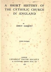 Cover of: A short history of the Catholic Church in England