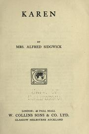 Cover of: Karen | Cecily (Ullmann) Sidgwick